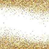 Banner of Gold Sequins Royalty Free Stock Photo