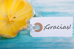 Banner with Gracias Royalty Free Stock Images