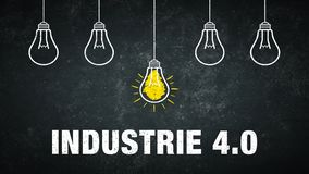 Industrie 4.0. Banner graphic - Industrie 4.0 - german text - translation: industry 4.0 stock illustration