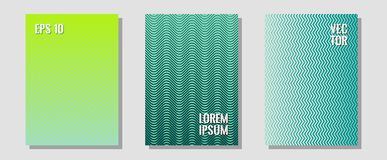 Banner graphics cool vector templates set. stock illustration