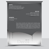 Banner or gray sheet of paper in the decoration.  Stock Illustration