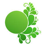 Banner in green colors Royalty Free Stock Photo