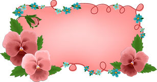 Banner or greetings card with flowers Stock Photography