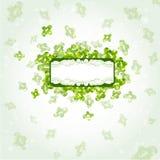 Banner groene glanzende vorm als achtergrond Royalty-vrije Stock Afbeeldingen