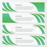 Banner groene kleur Royalty-vrije Stock Afbeeldingen