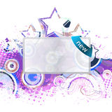 Banner with grunge background Royalty Free Stock Photography