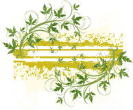 Banner ( grunge & leaves ) Royalty Free Stock Images