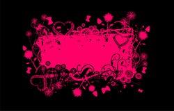banner grunge różowy Zdjęcie Stock
