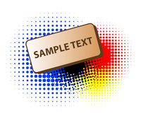 Banner with halftone rasters Stock Photos