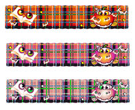 Banner halloween. Halloween banners in various shades Royalty Free Stock Photos
