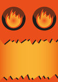 Banner - Halloween monster Royalty Free Stock Photography