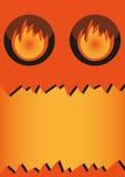 Banner - Halloween monster. Vector banner of Halloween monster Royalty Free Stock Photography