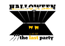 Banner for Halloween party Royalty Free Stock Photo