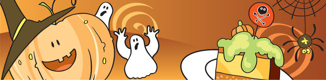 Banner on a Halloween theme Stock Images