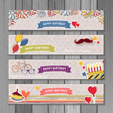 Banner happy birthday Royalty Free Stock Photos