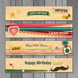Banner happy birthday Stock Photos