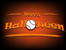Banner happy halloween and baseball ball Royalty Free Stock Photo