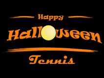 Banner happy halloween and tennis ball. On  background. Vector illustration Royalty Free Stock Image