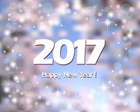 Banner Happy New Year 2017 Stock Images