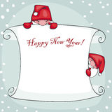 Banner  happy new year Stock Photos