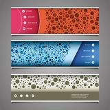 Banner or Header Design with Abstract Colorful Dotted Pattern Stock Photography