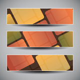 Banner or Header Design with Abstract Mosaic Pattern Royalty Free Stock Photography