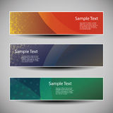 Banner or Header Designs with Abstract Colorful Grungy Pattern Royalty Free Stock Photos
