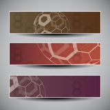 Banner or Header Designs with Abstract Globes. Set of Colorful Banners with Abstract Globe Designs in Freely Scalable and Editable Vector Format Stock Photos