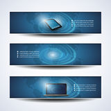 Banner or Header Designs, Cloud Computing, Network Royalty Free Stock Images