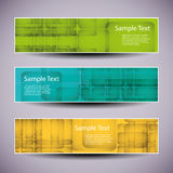 Banner or Header Designs with Colorful Abstract Background Royalty Free Stock Images