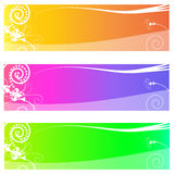 Banner or Header with floral pattern Royalty Free Stock Image