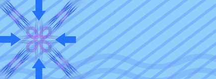 Banner / header: Get to the point. This header / banner / design shows an abstract background with an abstract desing and arrows. All of the arrows are  pointing Stock Image