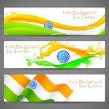 Banner and Header for India Celebration Stock Photography