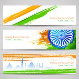 Banner and Header for India Celebration Stock Photos