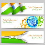 Banner and Header for India Celebration Royalty Free Stock Images