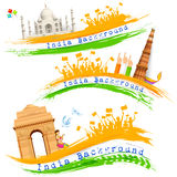 Banner and Header for India Celebration Stock Images