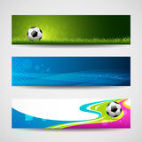Banner headers soccer ball background Stock Photo