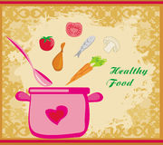 Banner healthy food. Illustration Royalty Free Stock Images