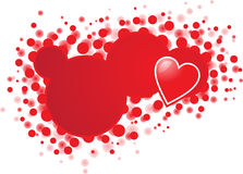 Banner with heart. This is a banner specialy for valentine day or other lover messages royalty free illustration