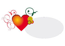 Banner with a heart. Space for text. Invitation, congratulation, message etc Stock Photos