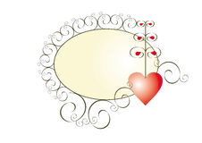 Banner with a heart. Space for text. Invitation, congratulation, message etc Royalty Free Stock Images