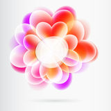 Banner heart flowers Royalty Free Stock Photo