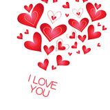 Banner with a heart, I love you Royalty Free Stock Image