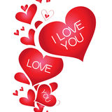 Banner with a heart, I love you Stock Photo