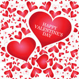 Banner with heart, valentines day Royalty Free Stock Photo