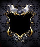 Banner with a heart vampire Stock Photo
