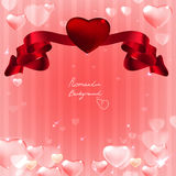 07 Banner hearts background Stock Image