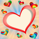 Banner with hearts and copy-space. Vector Illustration Royalty Free Illustration