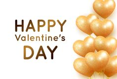 Banner hearts golden