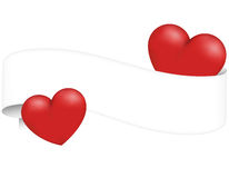 Banner with hearts Royalty Free Stock Photo